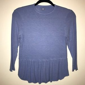 Three Dots 3/4 sleeve stretchy top